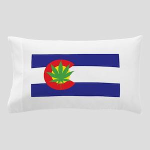 Colorado State Flag, Marijuana, Pot Leaf Pillow Ca