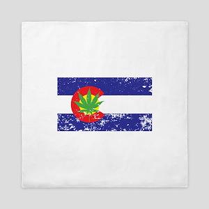 Colorado State Flag, Marijuana, Pot Leaf Queen Duv