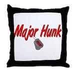USAF Major Hunk  Throw Pillow