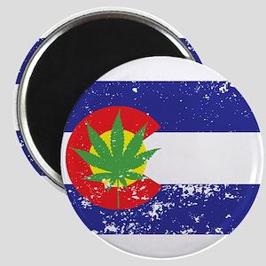 Colorado State Flag, Marijuana, Pot Leaf Magnet