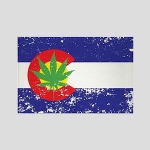 Colorado State Flag, Marijuana, Pot Leaf Rectangle