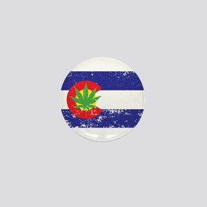 Colorado State Flag, Marijuana, Pot Leaf Mini Butt