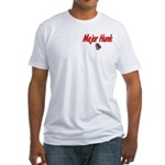 USAF Major Hunk Fitted T-Shirt