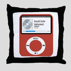 Ipad Acoustic Guitar Throw Pillow