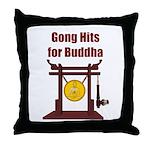 Gong Hits - Throw Pillow