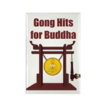 Gong Hits - Rectangle Magnet