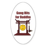 Gong Hits - Oval Sticker