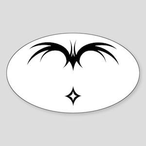 Paraglider Winged Script Oval Sticker