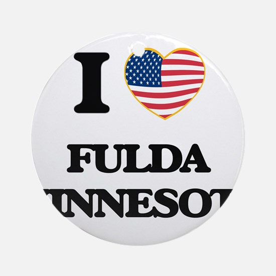 I love Fulda Minnesota Ornament (Round)