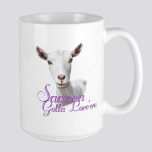Saanen Goat Gotta Love 'em Large Mug