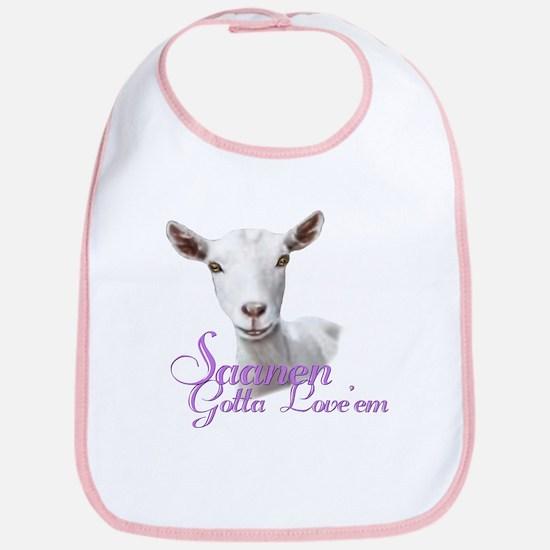 Saanen Goat Gotta Love 'em Bib