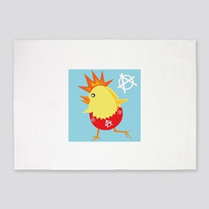 punk rock easter chick 5'x7'Area Rug