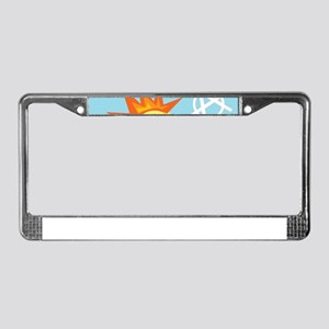 punk rock easter chick License Plate Frame