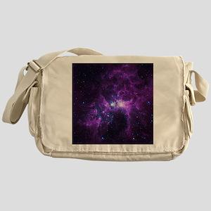 Purple Galaxy Messenger Bag