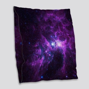 Purple Galaxy Burlap Throw Pillow