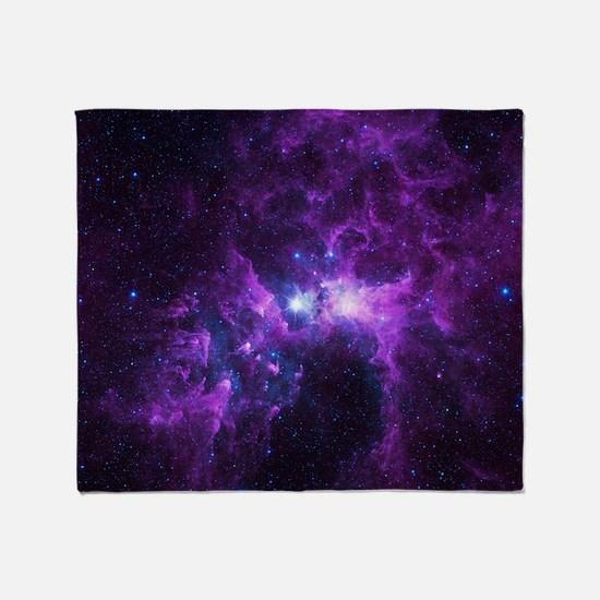 Purple Galaxy Throw Blanket