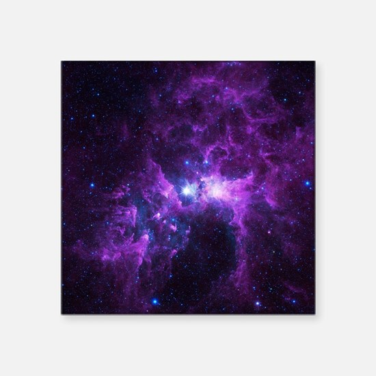 "Purple Galaxy Square Sticker 3"" x 3"""