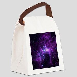 Purple Galaxy Canvas Lunch Bag