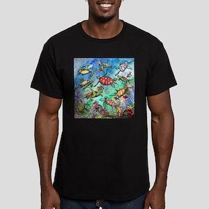 Sea Turtles Men's Fitted T-Shirt (dark)
