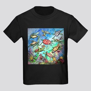Sea Turtles Kids Dark T-Shirt