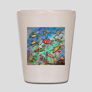 Sea Turtles Shot Glass