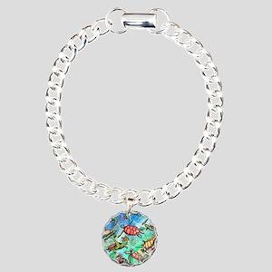 Sea Turtles Charm Bracelet, One Charm