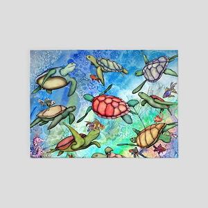 Sea Turtles 5'x7'Area Rug