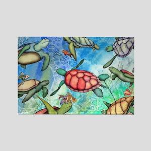 Sea Turtles Rectangle Magnet