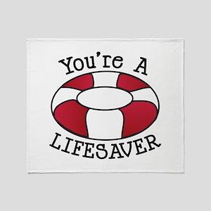 You're A Lifesaver Throw Blanket