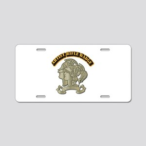 Artist Rifle Badge with Tex Aluminum License Plate
