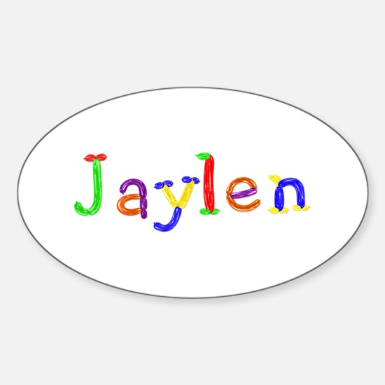 Jaylen Balloons Oval Decal
