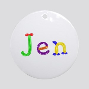 Jen Balloons Round Ornament