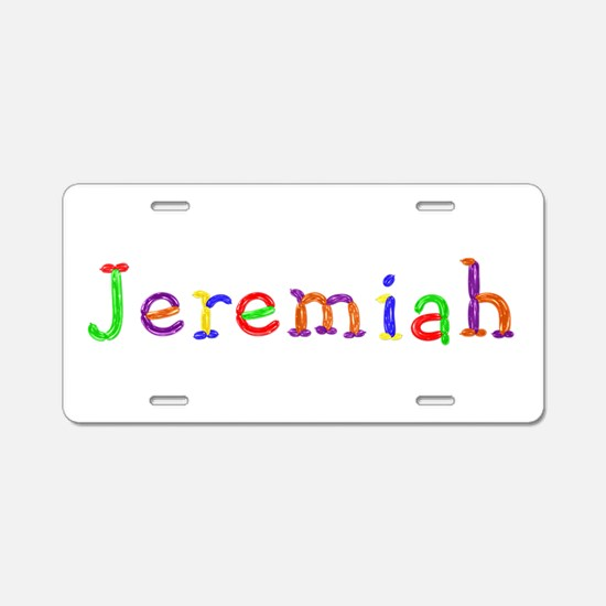Jeremiah Balloons Aluminum License Plate