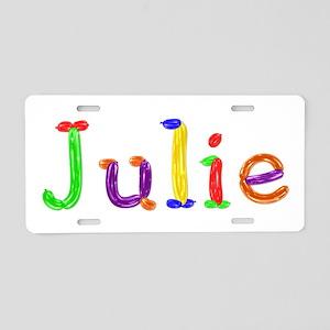 Julie Balloons Aluminum License Plate