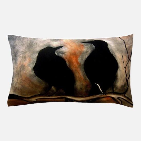 Black Birds Pillow Case