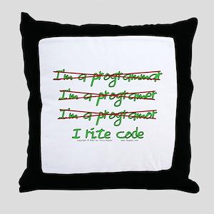 I Rite Code Throw Pillow
