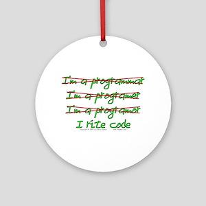 I Rite Code Ornament (Round)