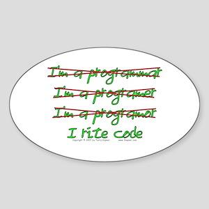 I Rite Code Oval Sticker