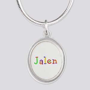Jalen Balloons Silver Oval Necklace