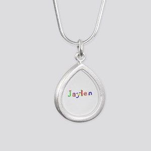 Jaylen Balloons Silver Teardrop Necklace