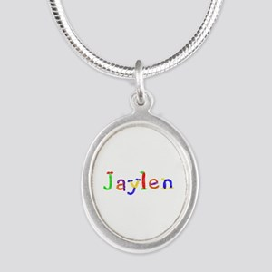 Jaylen Balloons Silver Oval Necklace
