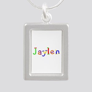 Jaylen Balloons Silver Portrait Necklace