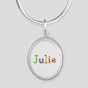Julie Balloons Silver Oval Necklace