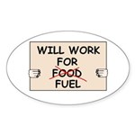 FUEL PRICE HUMOR Oval Sticker