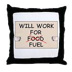 FUEL PRICE HUMOR Throw Pillow