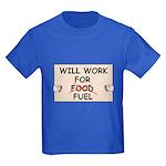 FUEL PRICE HUMOR Kids Dark T-Shirt