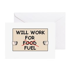 FUEL PRICE HUMOR Greeting Cards (Pk of 20)