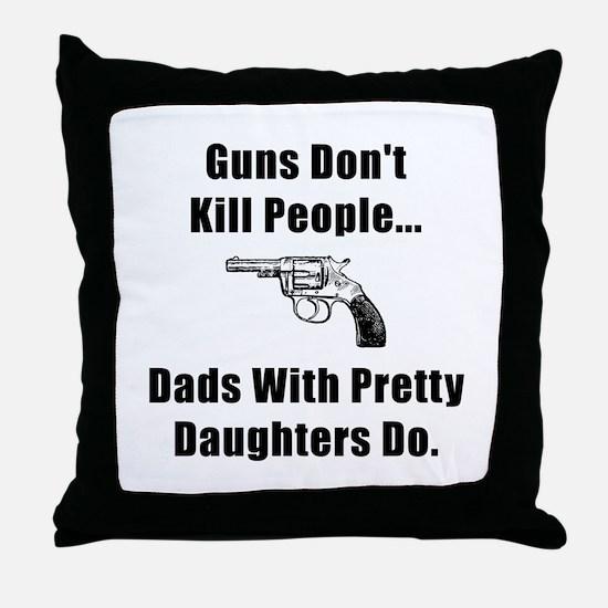 Dad Gun Throw Pillow