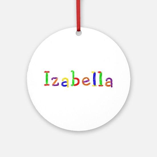 Izabella Balloons Round Ornament