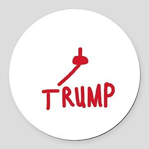 Fuck You Trump Round Car Magnet